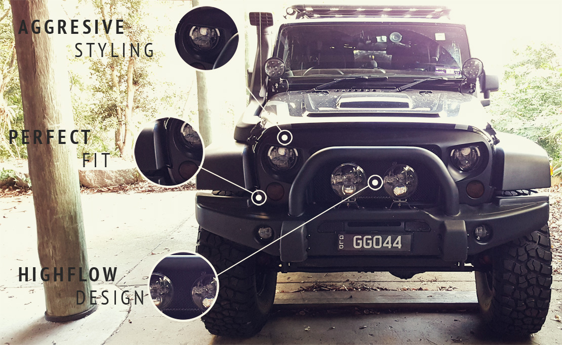 Angry Grille for Jeep Wrangler JK