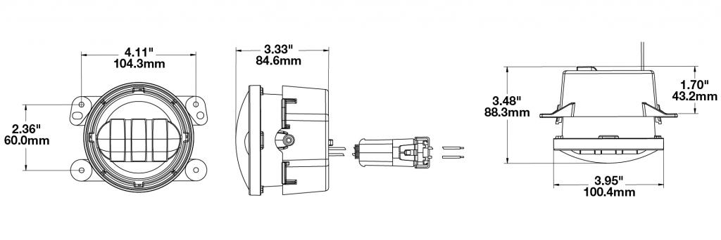 J.W. Speaker 6145 LED Fog lights