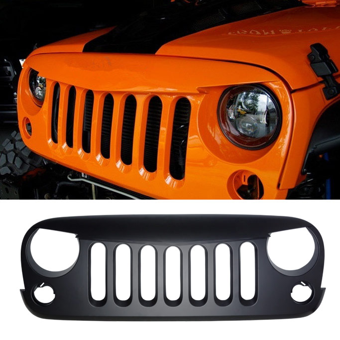 7 slots on jeep grill